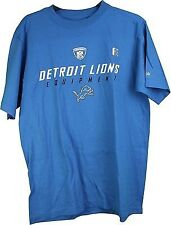 Nfl Reebok Detroit Lions Adult Tee Shirt Blue Xl