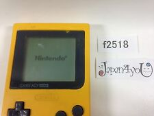 f2518 Plz Read Item Condi GameBoy Pocket Yellow Console Japan J4U