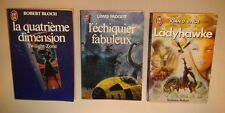 """J'ai lu"" Science Fiction - 3 vol. ""Échiquier fabuleux, Ladyhawke, 4e dimension"""
