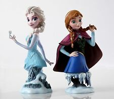 Disney Grand Jester GJS Frozen Queen Elsa & Princess Anna Bust 2 Figurine Set