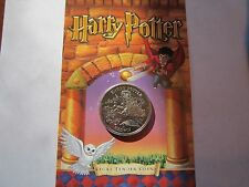 2001 Harry Potter, 1 Crown Commemorative, Pobjoy Mint Ltd, *Hagrid and Dragon*