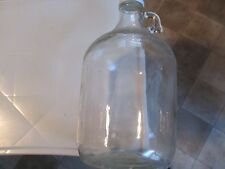 Vintage One 1 Gallon Clear Glass Jug Bottle Finger Handle