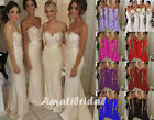 New Long Satin Evening Formal Party Ball Gown Prom Bridesmaid Wedding Dress 6-16