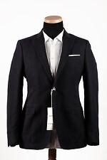 New 2015 VALENTINO Luxury Cotton-Linen Jacket Sport Coat Blazer Blue 42US 52EU