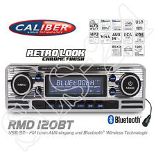 Caliber rmd120bt RDS look retro radio con Bluetooth mp3 USB SD autoradio sin CD