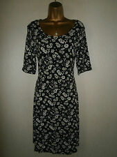 Next - Black and White Floral Dress - UK 12 / EU 40