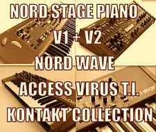 Nord Stage 1 & 2, Nord Wave + Access Virus TI for KONTAKT