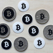 10 bitcoin black logo stickers clear vinyl RND decal crypto currency miner btc