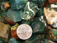 3000 Carat Lots of Green Moss Agate Rough - Plus a FREE Faceted Gemstone