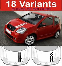 citroen c2 bonnet stripe decals c2 vtr vts choice of design