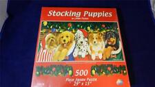 Sunsout 52626 Stocking Puppies Linda Picken 500 Pc Jigsaw Puzzle FACTORY SEALED