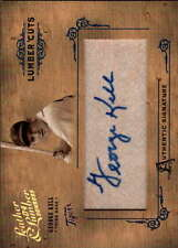 2004 DONRUSS LEATHER LUMBER CUTS GEORGE KELL CUT SIGNATURE AUTO /224 S1046
