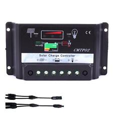 30Amp 12V/24V Solar Panel Charge Controller Battery Regulator + MC4 Connector DH