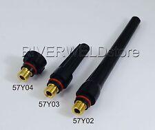 TIG Welding Torch SR PTA DB WP-17/18/26 Long Short Back Cap 57Y02 57Y03 57Y04