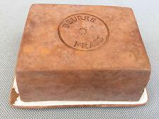 Ancien beurrier beurre frais en terre art de la table vintage années 60