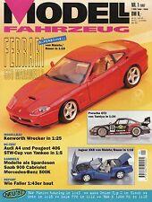 Zeitschrift Modell Fahrzeug 1 1997 John Deere Ferrari 550 Jaguar XK8 Citroën 15