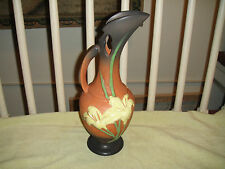 "Roseville Pottery Lily Ewer Pitcher Vase-Marked 24-15""-Zephyr-Peach-Reproduction"