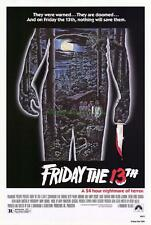 FRIDAY THE 13TH MOVIE POSTER ORIGINAL ONE SHEET !!!!!!!