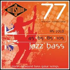 Rotosound RS77LD Long Scale  Flatwound Jazz Bass Guitar Strings 45 - 105