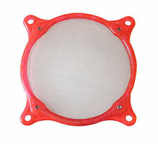 120mm Washable Stainless Steel Fan Filter (Red)