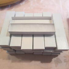 LOT OF 45 WHITE LIDED CARDBOARD PEN BOXES-W COTTON INSERT/GIFT BOX-4 PEN MAKERS