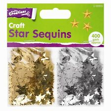 Gold & Silver Star Sequins Arts Crafts Confetti Wedding Table Art Decoration