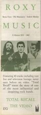 24/3/90Pgn26 Advert: Roxy Music total Recall A History 1972-82 Video 15x5