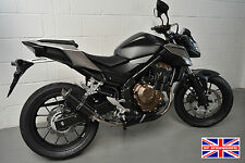 Honda CB500F (2016) SP Engineering Carbon Fibre Stubby Moto GP Exhaust End Can