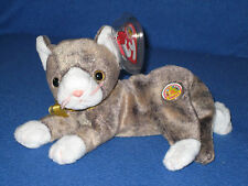 TY CAPPUCCINO the CAT BEANIE BABY - MINT with MINT TAGS - BBOM