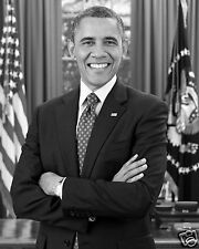 President Barack Obama Official B&W Portrait 8 x 10 Photo Picture #bwm1