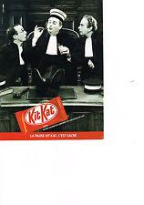 PUBLICITE  1985   KIT KAT   petites gaufrettes chocolatées
