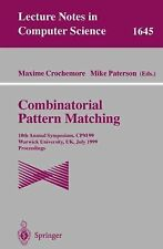 Combinatorial Pattern Matching: 10th Annual Symposium, CPM 99, Warwick Universit