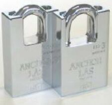 X1 ANCHOR LAS High Security Grade 4 Closed Shackle Steel Padlock C/w 3 Keys