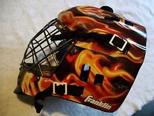 FRANKLIN GOALIE MASK STREET EXTREME COMP  GFM100 BACK PLATE FLAMES METAL CAGE