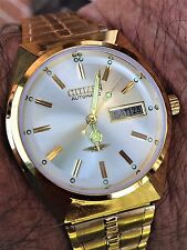 Men's RARE VINTAGE CITIZEN 21 JEWELS 8200A AUTOMATIC DAY/DATE Wrist Watch