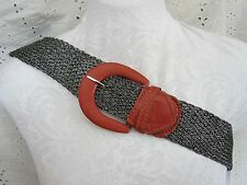 "18"" FAUX LEATHER half Belt Buckle Embellishment Decorative RED"