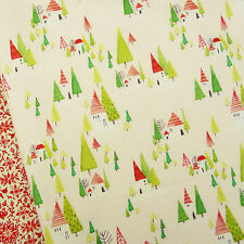 Blend Joy and Wonder ~ Cabin in the Woods Ivory Fabric / quilting Christmas tree
