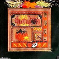 """Mill Hill Buttons Beads Cross Stitch Kit 5"""" x 5"""" ~ AUTUMN COLLAGE Sale #MHCB-218"""