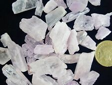 2 Rare Pink Kunzite Crystals Powerful Healing Gem Quality Chakra Peace Crystal