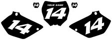 2006-2013 Yamaha YZ125 Custom Pre-Printed Black Backgrounds White Number 2Stroke
