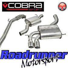 "Cobra Audi S3 2.0 3"" Turbo Back Exhaust System Stainless Resonate Inc De Cat 3Dr"