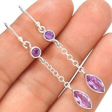 Amethyst 925 Sterling Silver Earrings Jewelry SE138204