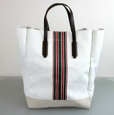 New Authentic GUCCI Canvas Mens Large Tall Tote Top Handle Bag w/Web, 30883
