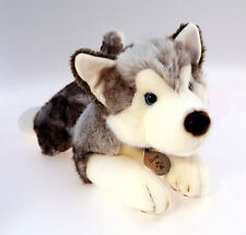 Plush Husky Soft Toy Dog, Large 50cm, Keel Toys DeLuxe Soft Toy