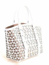 ALEXANDER McQUEEN HANDBAG - Legend Cut-Out Tote in White & Nude