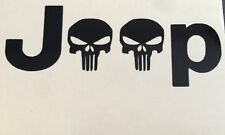 (2) TJ XJ JK JEEP WRANGLER Replacement fender Decals stickers PUNISHER