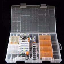 Large Translucent Plastic Case Holder Organiser Storage Box for AA AAA C battery
