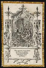 santino incisione 1800 GESU' AL TEMPIO TRA I DOTTORI