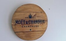 Moët & Chandon champagne plaque wooden sign  mancave shed bar pub fathers day