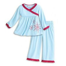 American Girl Bitty Baby SNOWY SWEET PJ'S blue pajamas girls size small 3